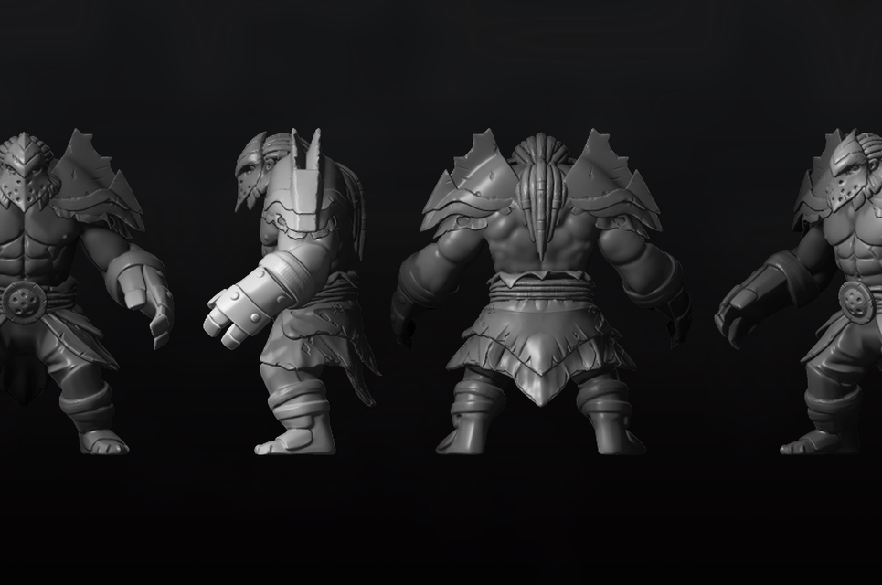 Axe set high poly show