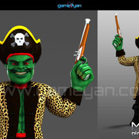 3d misterf pirates character modeling cover