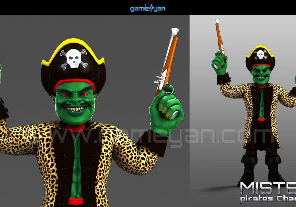 3d misterf pirates character modeling show