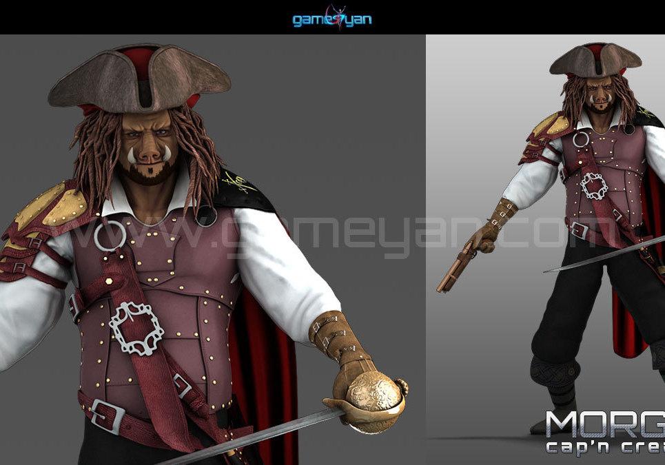 3d morgan capn creature character modeling show