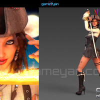 3d woman pirates character rigging cover