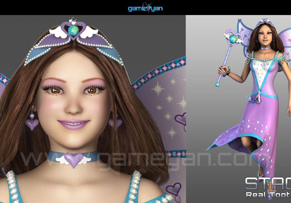 3d fairy cartoon character animation show
