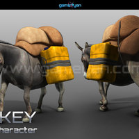 3d donkey animal character animation cover