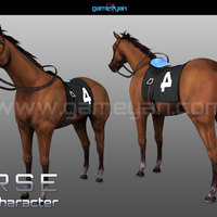 3d horse animal character modeling cover
