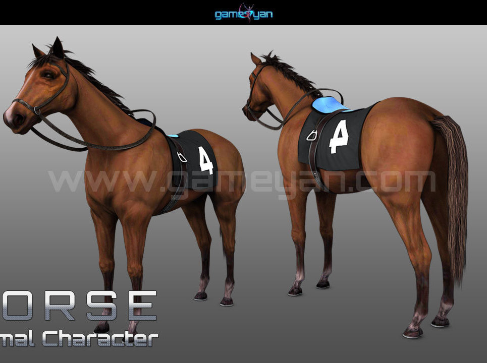 3d horse animal character modeling show