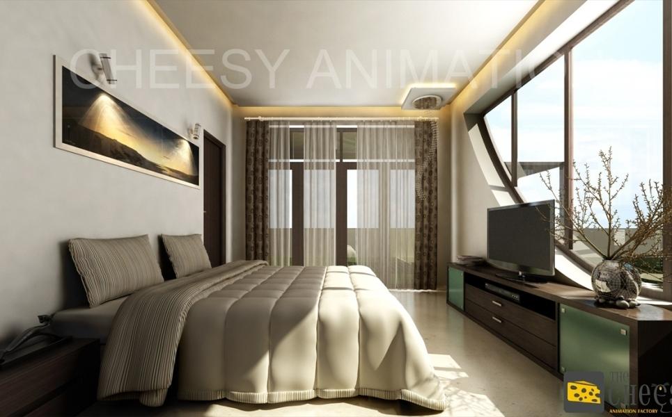 3d architectural interior render show