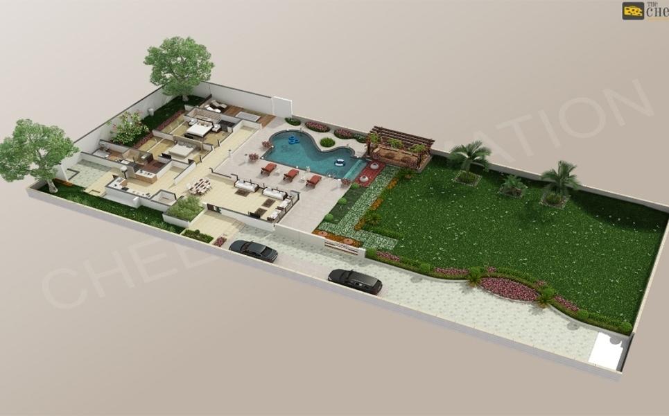 3d floor plan rendering show