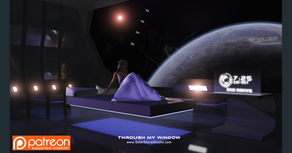 Through my window large render show