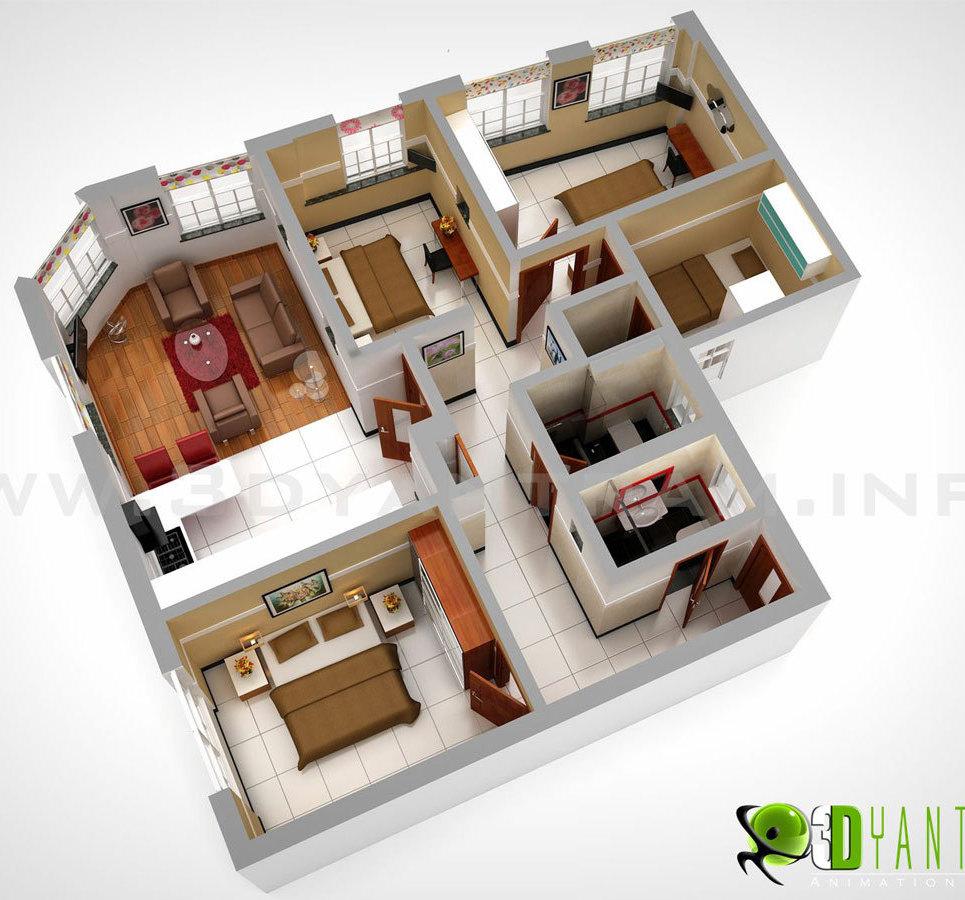 3d floor plan design show