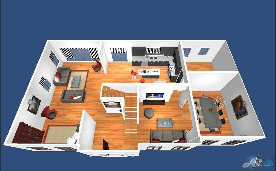 Virtual floor plan show