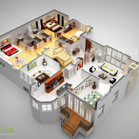 Laxurious residential 3d floor plan paris cover