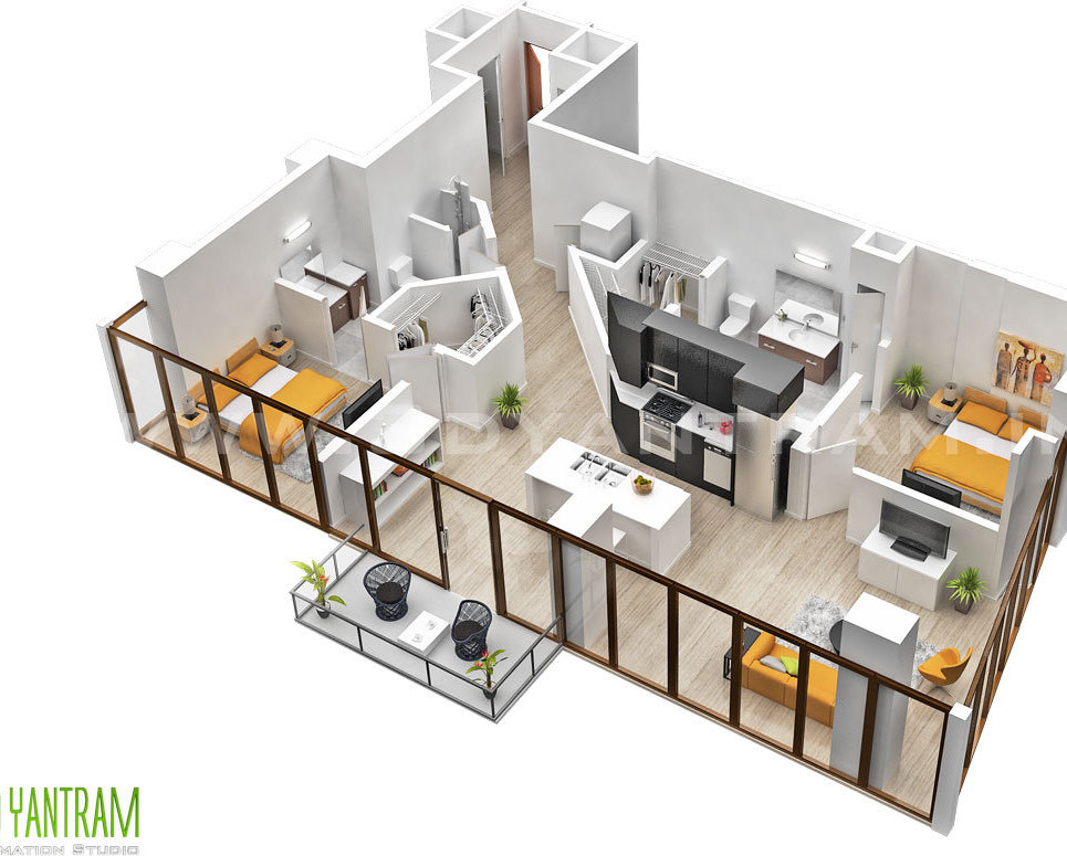 Residentail 3d floor plan design australia show
