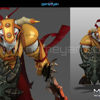 3d minotorc warrior character modeling cover