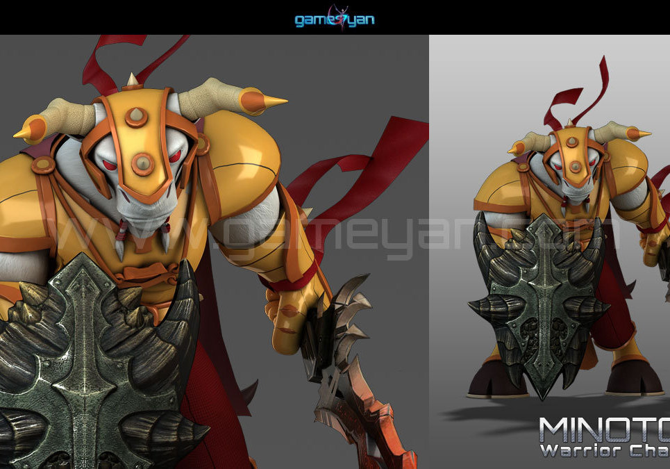 3d minotorc warrior character modeling show