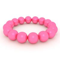 Free Pink Pearls Bracelet 3D Model