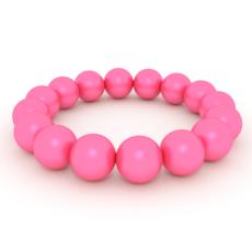 Pink Pearls Bracelet 3D Model