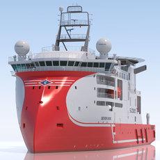 Light Construction Vessel Seven Viking 3D Model