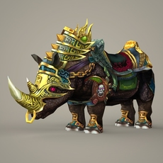 Fantasy King Rhino 3D Model