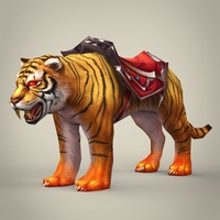 Fantasy King Tiger 3D Model