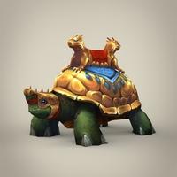 Fantasy King Tortoise 3D Model