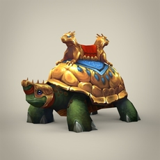 Fantasy King Tortoise 3D Model