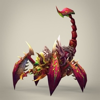 Fantasy Scorpion King 3D Model