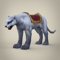 Fantasy White Tiger 3D Model