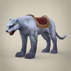 Fantasy White Tiger 3D Model