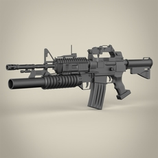 C15-M203 Machine Gun 3D Model