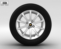 Chevrolet Lacetti Wheel 15 inch 002 3D Model