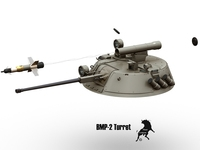 BMP-2 Turret 3D Model