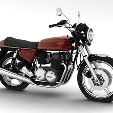 Honda CB750 F2 1978 3D Model