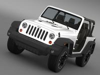 Jeep Wrangler Rubicon 10th Anniversary 2014 3D Model