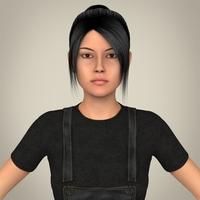 Realistic Beautiful Teen Girl 3D Model