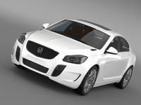 Buick Regal GS 2011-2013 3D Model