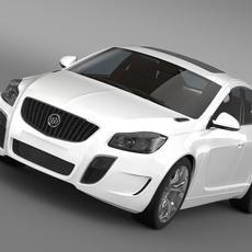 Buick Regal GS 2011-2013 3D Model