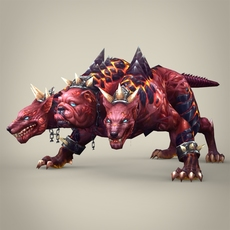 Fantasy Monster Dog Bambusa 3D Model