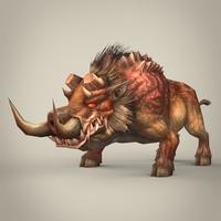 Fantasy Wild Pig 3D Model