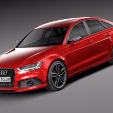 Audi RS6 sedan 2015 3D Model