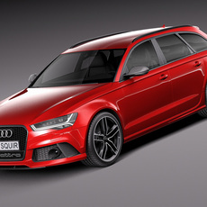 Audi RS6 Avant 2015 3D Model