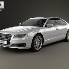 Audi A8 (D4) L 2014 3D Model