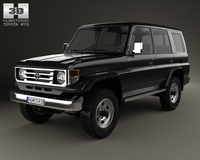 Toyota Land Cruiser (J70) 5-door 1990 3D Model