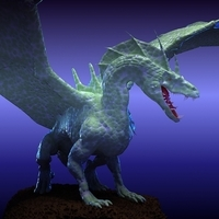 Winged Dragon 02 3D Model