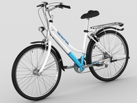 Generic woman's bicycle 3D Model