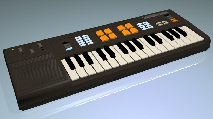 Retro Casio Keyboard 3D Model