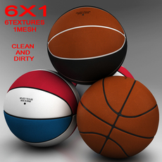 Standard basketball ball 3D Model