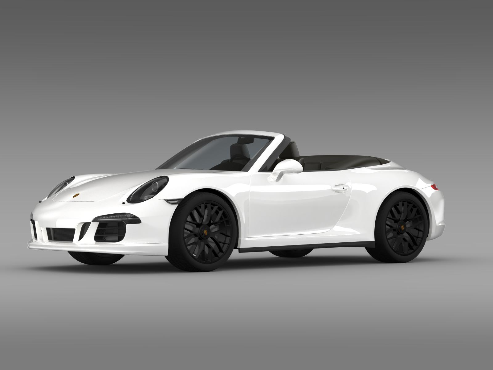 porsche 911 carrera 4 gts cabriolet 991 2015 3d model. Black Bedroom Furniture Sets. Home Design Ideas