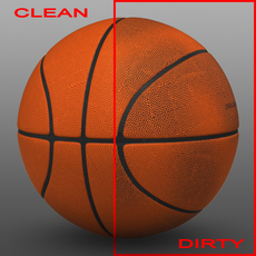 Orange basketball ball 3D Model