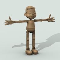 Wooden Puppet 3D Model