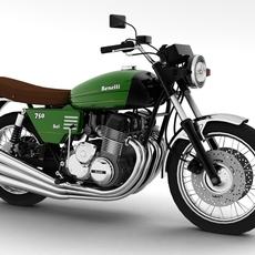 Benelli 750 Sei 1976 3D Model